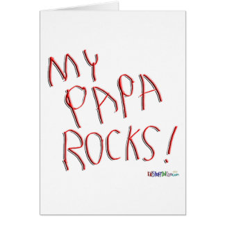 My Papa Rocks! Greeting Card