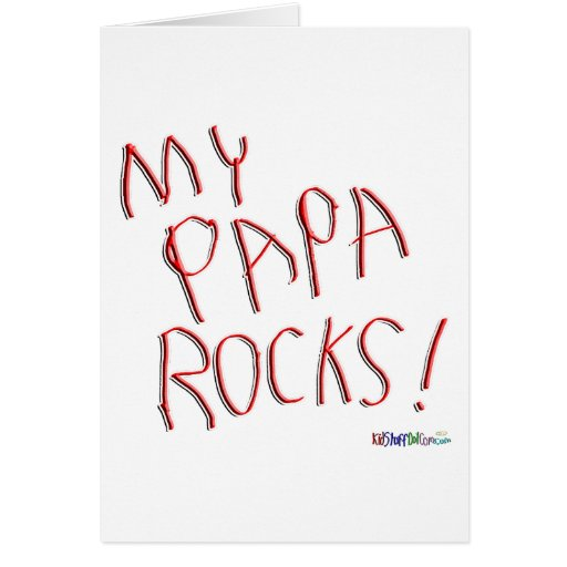 My Papa Rocks! Greeting Card