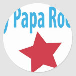 My papa rocks round stickers