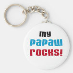 My Papaw Rocks T-shirts and Gifts Basic Round Button Key Ring