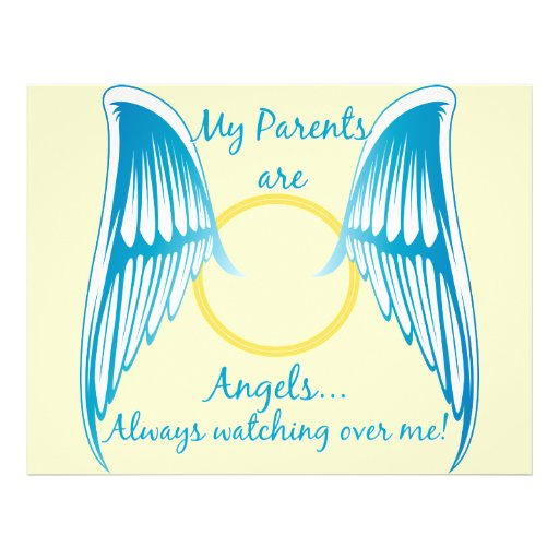 My Parents are Angels Full Color Flyer