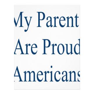 My Parents Are Proud Americans Flyer Design