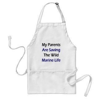 My Parents Are Saving The Wild Marine Life Aprons