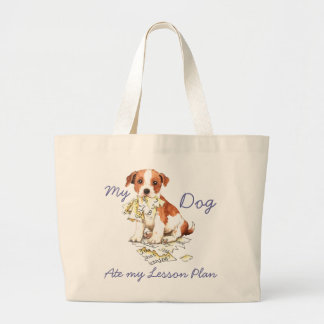 My Parson Russell Terrier Ate My Lesson Plan Canvas Bag