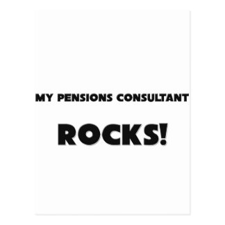 MY Pensions Consultant ROCKS! Postcard
