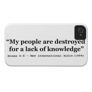 My People Are Destroyed for a Lack of Knowledge iPhone 4 Covers