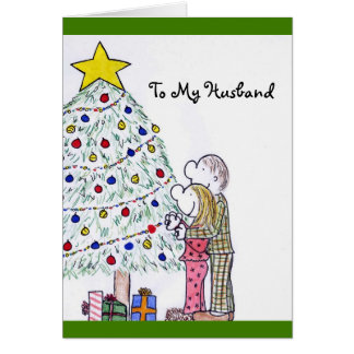 My People Merry Christmas To My Husband Card
