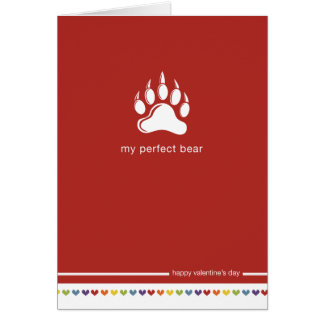 My Perfect Bear - Gay Valentine's day Card