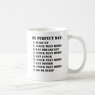 My Perfect Day Basic White Mug