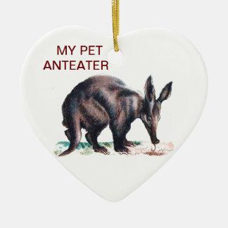 MY PET ANTEATER CERAMIC HEART DECORATION