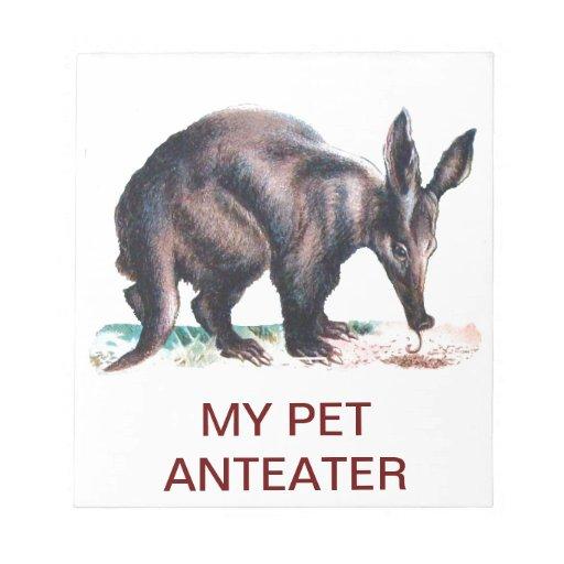 MY PET ANTEATER MEMO PAD