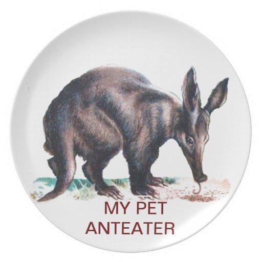 MY PET ANTEATER PLATE