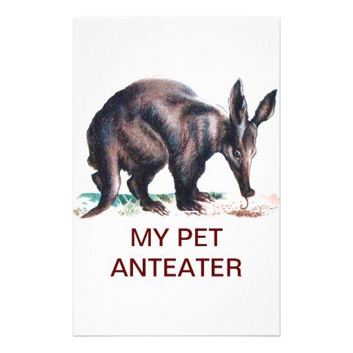 MY PET ANTEATER CUSTOM STATIONERY