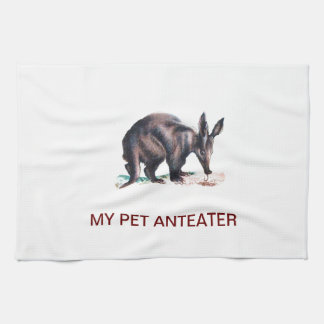 MY PET ANTEATER HAND TOWEL