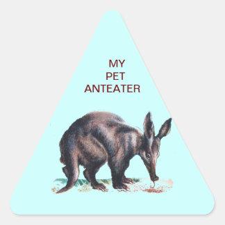 MY PET ANTEATER TRIANGLE STICKER