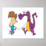 my pet dragon funny cartoon poster