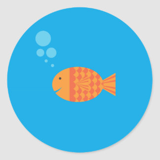 My Pet Goldfish Classic Round Sticker
