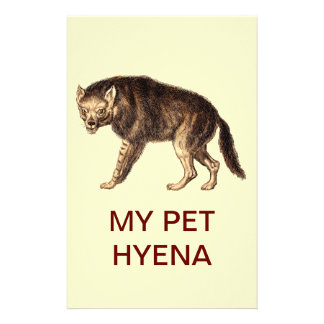 MY PET HYENA - Ha-Ha Personalised Stationery