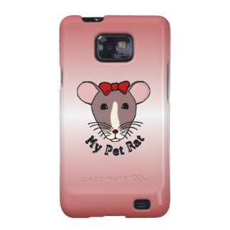 My Pet Rat w Red Bow Samsung Galaxy SII Cases