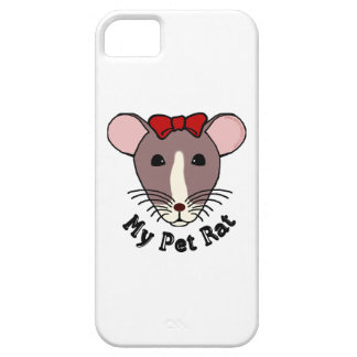 My Pet Rat w Red Bow iPhone 5 Cover