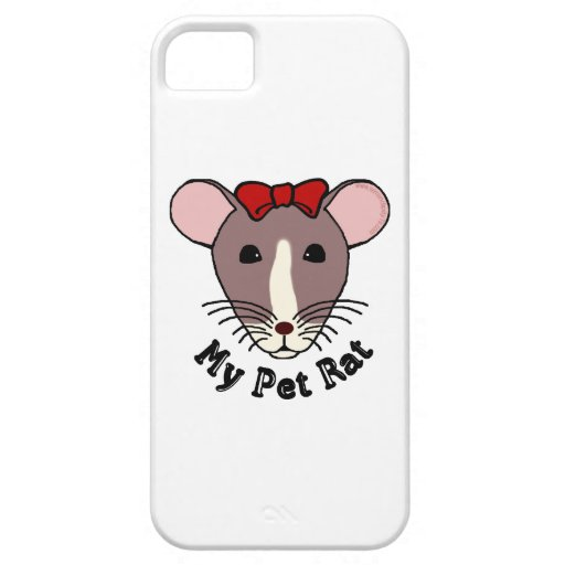 My Pet Rat (w/Red Bow) iPhone 5 Cover