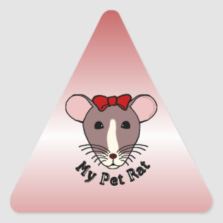 My Pet Rat w Red Bow Stickers