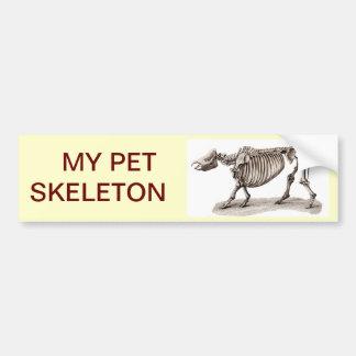 MY PET SKELETON BUMPER STICKER