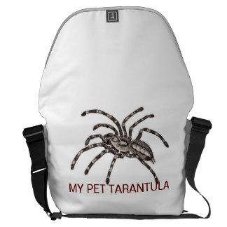 MY PET TARANTULA MESSENGER BAGS