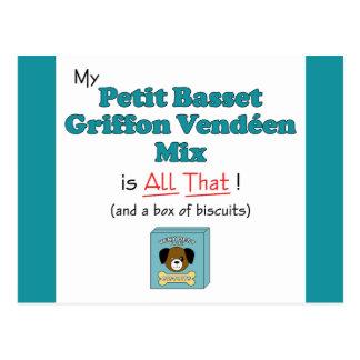 My Petit Basset Griffon Vendeen Mix is All That! Postcard