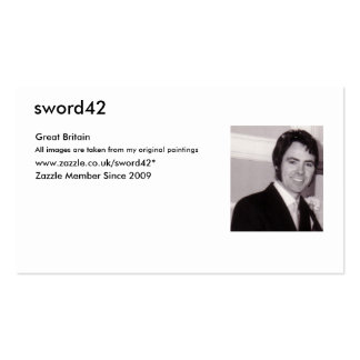 MY PHOTO, sword42, Great Britain, From my original Pack Of Standard Business Cards