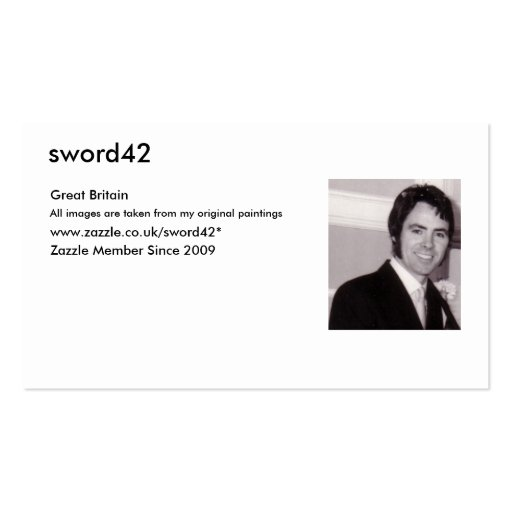 MY PHOTO, sword42, Great Britain, From my original Business Card Templates
