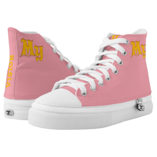 "My Pink Vision""Vision Your Design' High Tops"