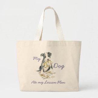 My Pit Bull Ate My Lesson Plan Jumbo Tote Bag