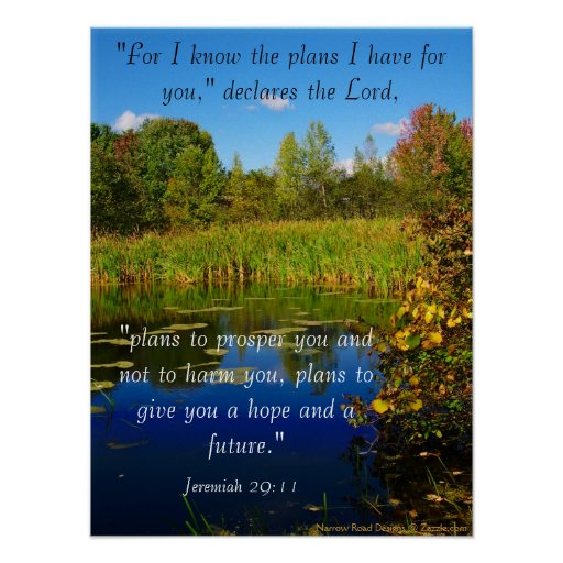 My Plans For You Scripture Poster