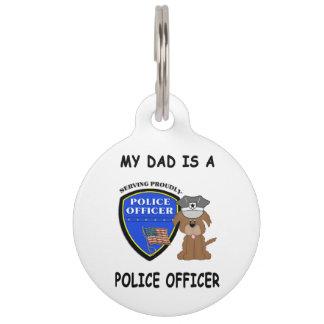 My Police Dad Pet Nametag