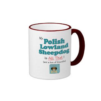 My Polish Lowland Sheepdog is All That! Ringer Mug