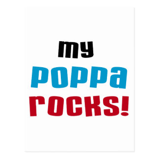 My Poppa Rocks Tshirts and Gifts Postcard