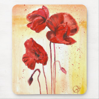 My Poppies in the Summer Mouse Mat
