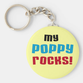 My Poppy Rocks T-shirts and Gifts Key Ring