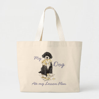 My Portuguese Water Dog Ate My Lesson Plan Jumbo Tote Bag