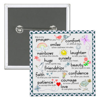 My Prayer For You 15 Cm Square Badge