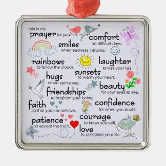 My Prayer For You Christmas Ornament