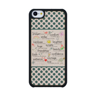 My Prayer For You Maple iPhone 5C Slim Case