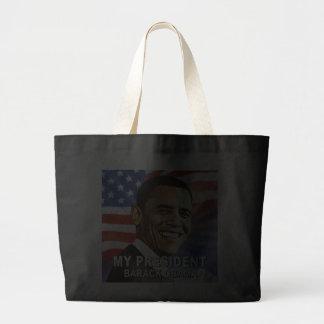My President Mr. Barack Obama (flag) Tote Bags