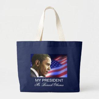 My President Mr. Barack Obama (patriotic) Tote Canvas Bag