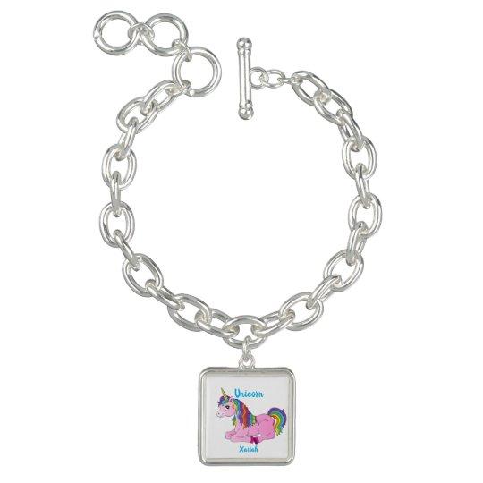 My Pretty Little Unicorn Charm Bracelet   Xariah   Zazzle ...