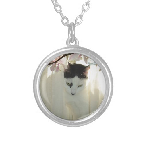 My Pretty White and Black Kitty Cat Necklace