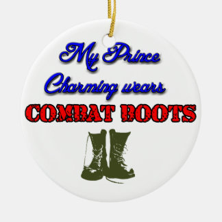 My Prince Charming Wears Combat Boots, Christmas Christmas Ornament