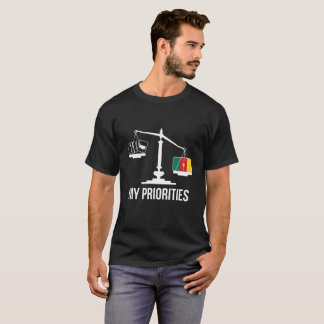 My Priorities Cameroon Tips the Scales Flag T-Shirt