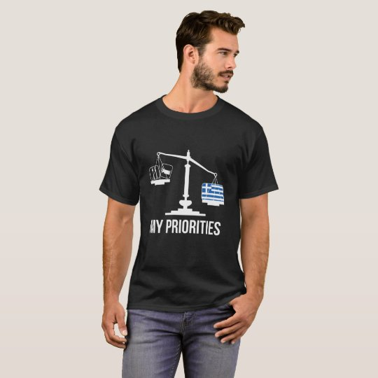 My Priorities Greece Tips the Scales Flag T-Shirt